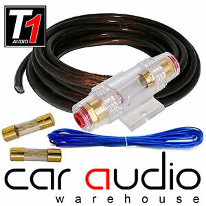 4 awg 1800 watt black 4 gauge car amplifier amp power earth remote rh ebay co uk