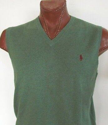 NWT Polo Ralph Lauren V-Neck Pima Cotton Vest * Green * XS S M L XL