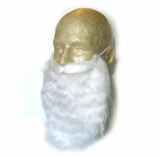 adult white santa claus beard mustache holiday christmas party costume - White Santa Claus