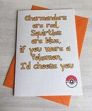 Pokemon ir inspirado Gracioso Grosero poema de amor-aniversario, cumpleaños o simplemente para decir