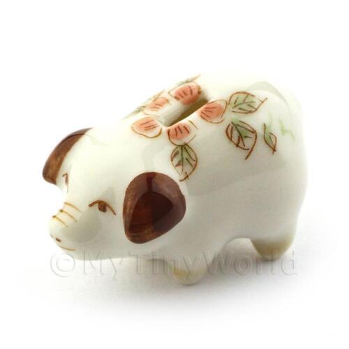 Dolls House Miniature Handmade Brown Piggy Bank