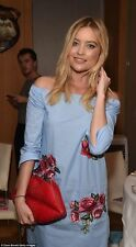 ZARA OFF THE SHOULDER EMBROIDERED TUNIC DRESS SIZE SMALL BLOGGERS CELEB