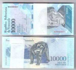 VENEZUELA-BUNDLE-OF-100-x-10000-BOLIVARES-NOTE-FUERTE-UNC-BANKNOTES-NEW-2017