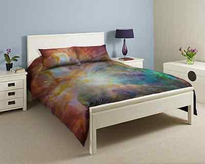 3D Single, Double, King size Galaxy Duvet cover bedding set Nebula Star Universe
