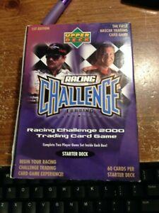 2000 Upper Deck Nascar Racing Challenge Trading Card Game Box 10 Starter Decks
