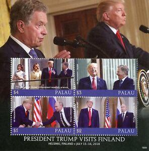Palau 2018 Neuf Sans Charnière Donald Trump Finlande Visite Niinisto 4 V M/s Les Présidents Des États-unis Timbres-afficher Le Titre D'origine
