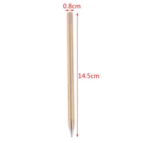 Outdoor Messing Tintenloser Stift Kugelschreiber Kupfer Geschenkstift Stylus