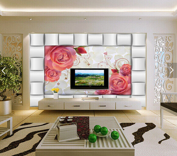3D Blumen Hintergrund 69 Tapete Tapeten Mauer Foto Familie Tapete Wandgemälde DE