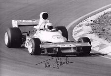 Tim Schenken SIGNED 12x8 Trojan-Cosworth T103, Dutch GP Zandvoort 1974
