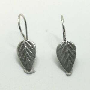 925-Fine-Pure-Silver-Earrings-Thai-Jewelry-Lovely-Accessories-Small-Leaf-Gift