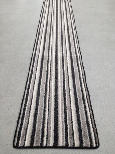 escaliers tapis runner Hesse dos 60 cm x toute taille Noir de Qualité hall blanc