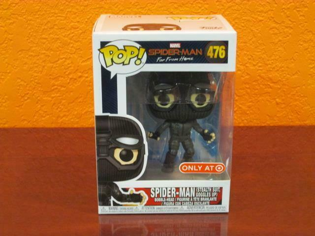 2019 MARVEL SPIDER-MAN FAR HOME STEALTH SUIT-GOGGLE UP POP FIGURE TARGET MIB