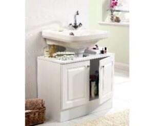 Image Is Loading Basin Pedestal Storage Unit Under Wash Furniture Cabinet