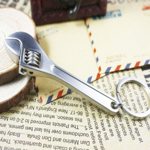 Cute Key Chain Ring Keyring Mini Creative Tool Wrench Spanner Adjustable Metal