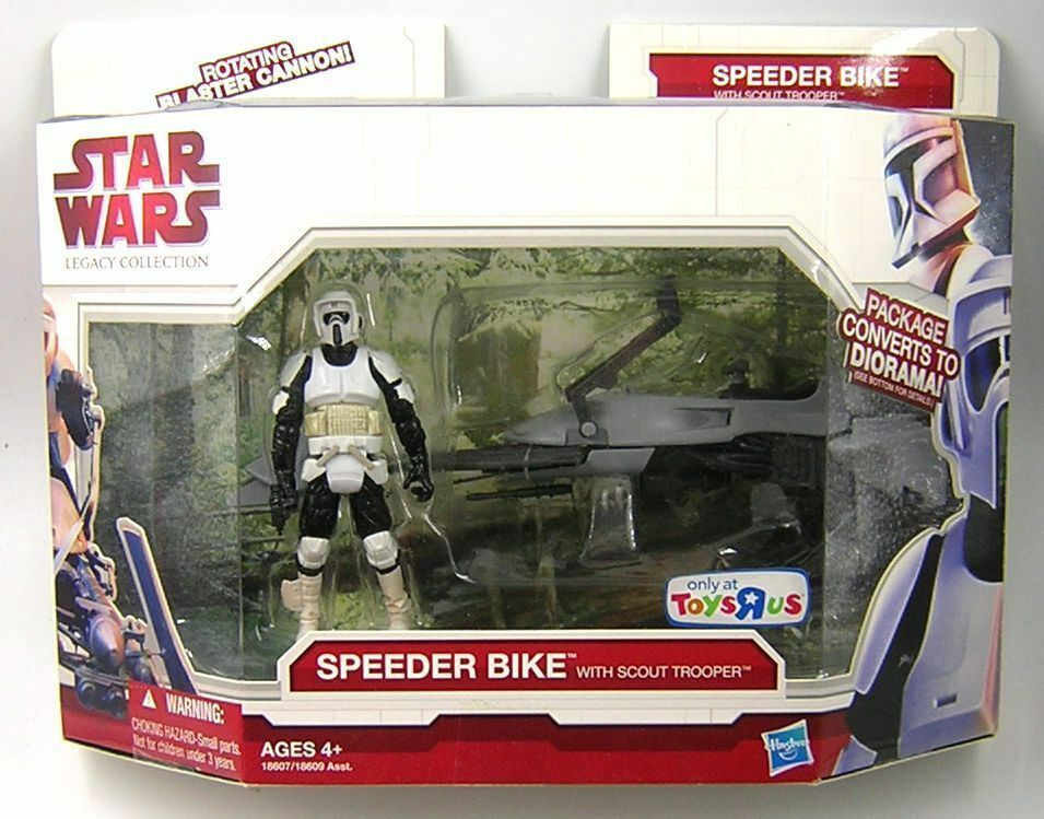 Star Star Star Wars Legacy Collection Speeder Bike with Scout Trooper Toys R Us Exclusive 17efab