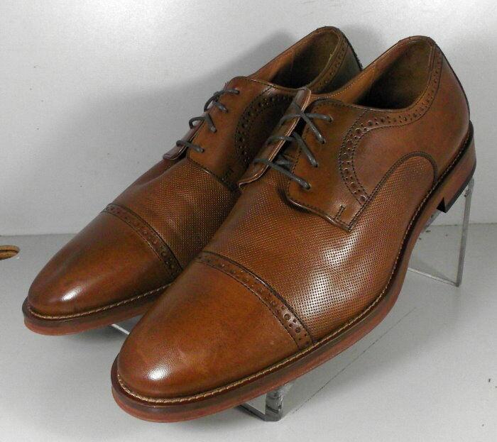 5912574 WT50 Men's Shoes Size 9.5 M Dark Tan Leather Johnston Murphy Walk Test