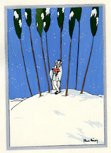 1930s-French-Pochoir-Max-Ninon-Print-Art-Deco-Winterscape-Harlequin-w-Music-Box