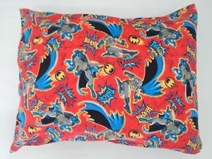Batman Pillowcase Red  Child Toddler Cot Size  Great Gift!! 100% Cotton