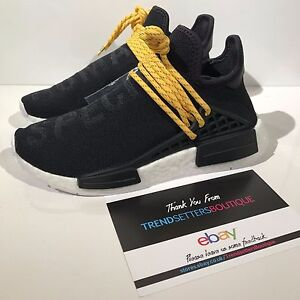 9063c75c15f5e ADIDAS NMD HUMAN RACE BLACK YELLOW US UK 4 4 .5 5 8 8.5 10 11 12 ...