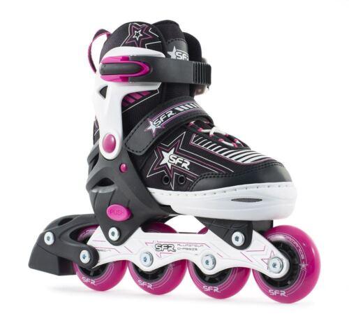 SFR Pulsar Adjustable Inline/Roller Junior/Kids Skates - Pink SUPER FAST SHIP