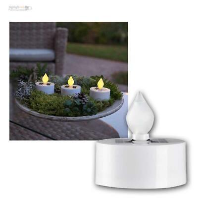 3er Set Solar Teelicht Kerzen, Mini Led Kerze Mit Lichtsensor, Für Innen & Außen