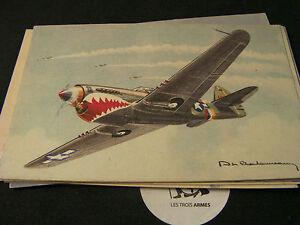 A0143-Collection-de-cartes-Avions-de-Chasse-39-45-Fighter-aircraft-plane-WW2