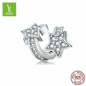 Authentic-925-Sterling-Silver-Charm-Beads-Women-Jewelry-Fit-Bracelet-Bangle-New