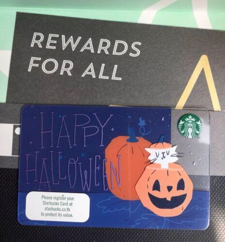 "Starbucks Card  Thailand 2018  ""Halloween "" W// Sleeve"