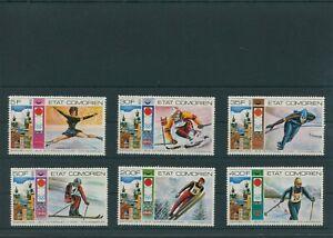 Comores-Olympique-Olympia-1976-Innsbruck-Mi-266-271-Dente-Neuf-MNH
