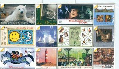 Das Beste Bund 2008 Klar Und Unverwechselbar 12 Muster Briefmarken Als Sticker Ca