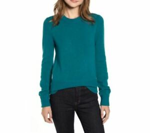 J-CREW-Crewneck-Sweater-In-Super-Soft-Yarn-In-Spicy-Jade-Green-Teal-Size-M-L-NWT
