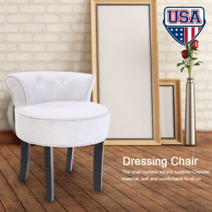 Strange Details About New Elegant Vanity Wood Dressing Stool Padded Chair Makeup Seat Bedroom Gray Machost Co Dining Chair Design Ideas Machostcouk