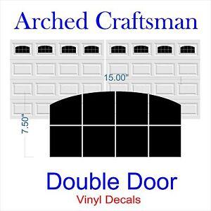 Image Is Loading Garage Door Vinyl Window Decals Arched Craftsman Double