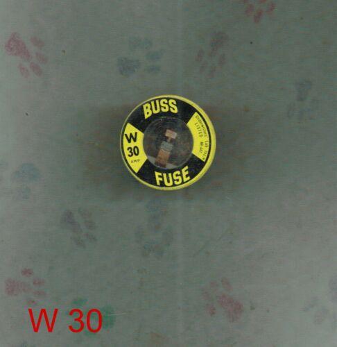 NEW BUSSMAN W30  30 AMP  FUSETRON W-30