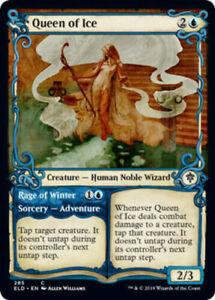 MTG-Queen-of-Ice-SHOWCASE-FOIL-Throne-of-Eldraine-NM-M-Magic-the-Gathering