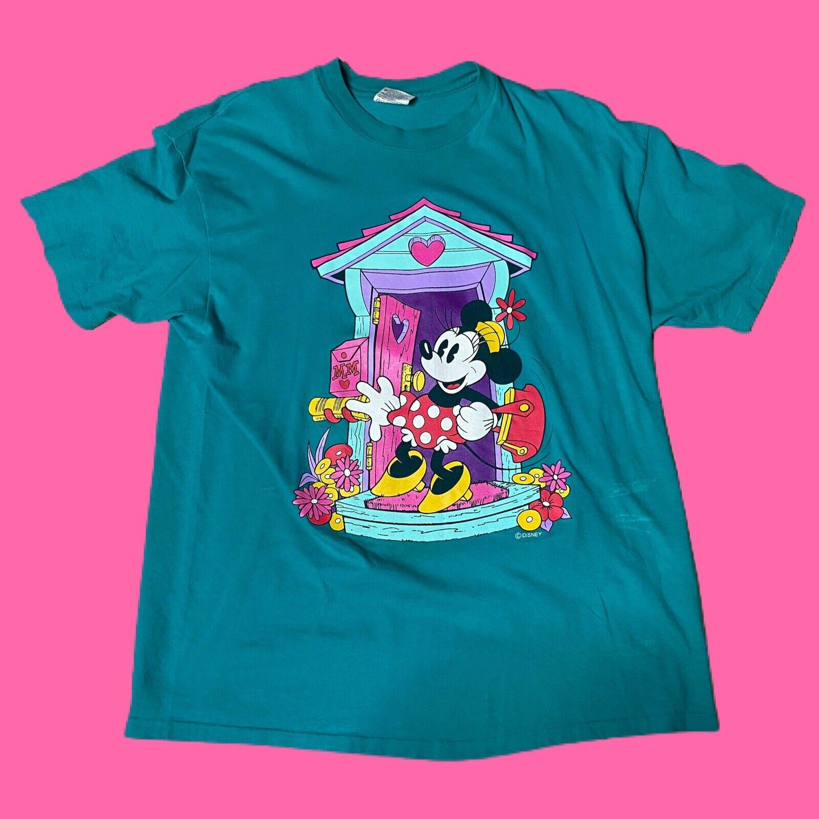 Vintage 90s Disney Minnie Mouse T-Shirt X-Large VTG Single stitched USA
