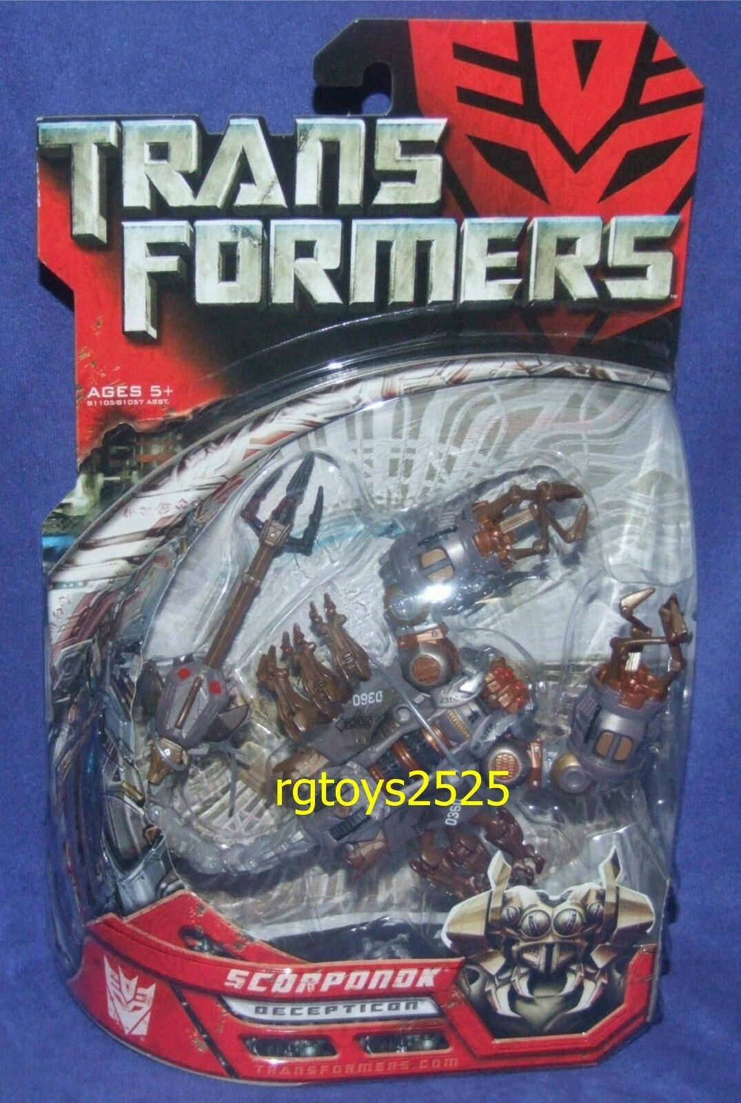Transformers - film 6  deluxe klasse decepticon scorponok neue fabrik versiegelt, 2007