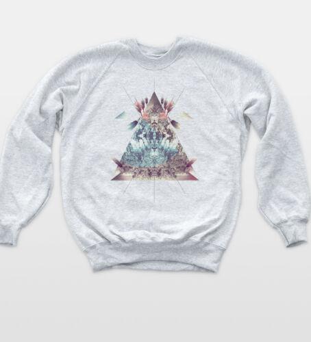 Triangle Dreamcatcher Illuminati Sweat Vintage Hipster Jumper Tumblr Sweatshirt