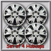 Set Of 4 16 2013-2014 Ford Fusion Chrome Hubcaps, 16 Wheel Covers Free Ship