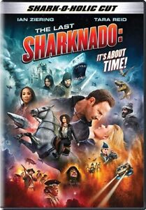THE LAST SHARKNADO 6 IT'S ABOUT TIME New Sealed DVD Shark-a-Holic Cut