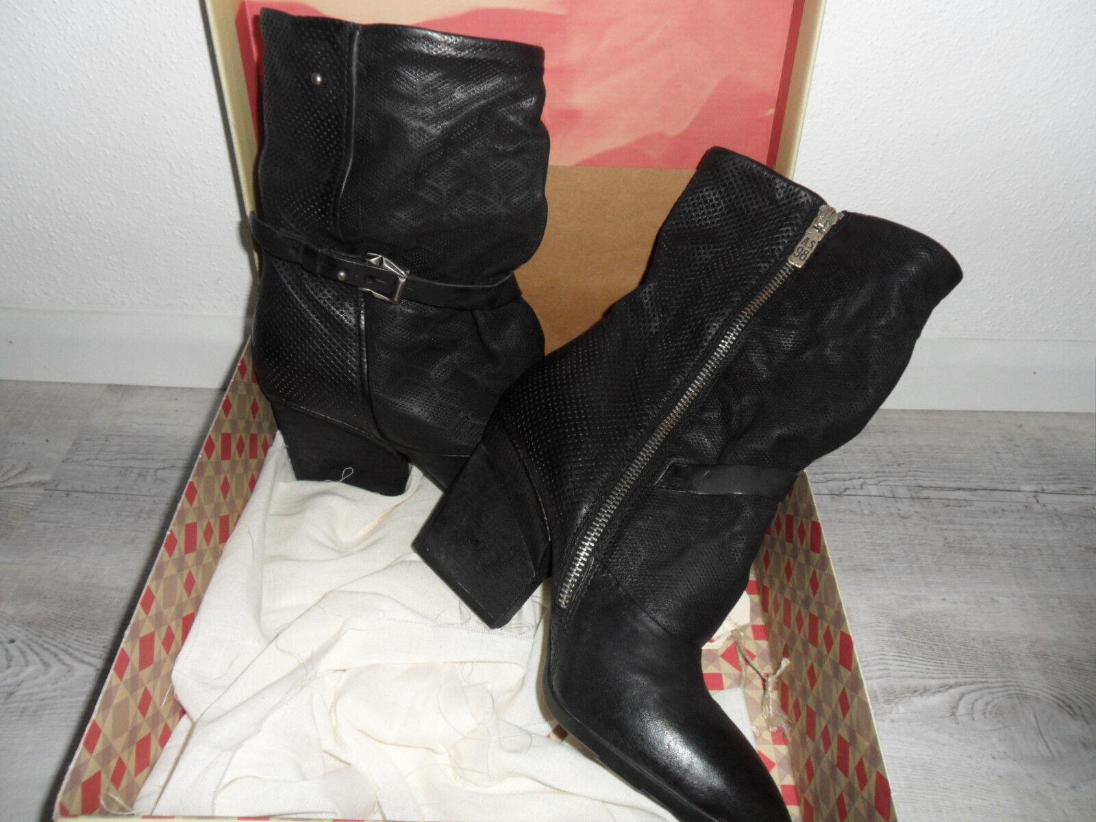 A.S.98 Damen Stiefel, Gr. 39, Echtleder, Echtleder, Echtleder, schwarz, NEU 36bca3