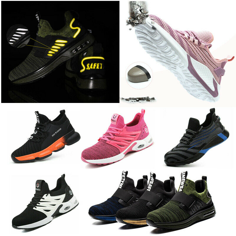 Mens Lightweight Safety Shoes Steel Toe Cap Work Trainers Hiking Sport Boot Size