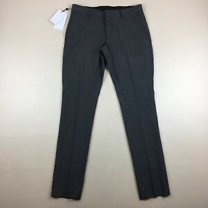 promo code b5d86 f4526 Details about NWT Selected Homme Identity Black & Gray Check Skinny Stretch  Pants Size 32x34