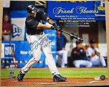 Frank Thomas signed 16x20 500th Home Run Photo PSA/DNA 521 HRs Inscription