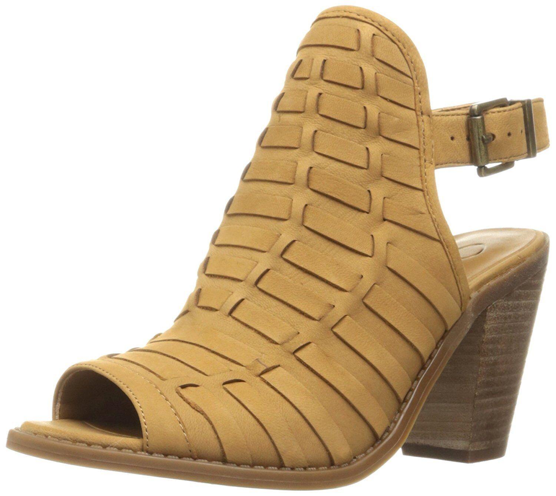 Jessica Simpson Celinna Woven Peep Toe Slingback Shooties, Sizes Sizes Sizes 6-10 Honey Brow 29d875