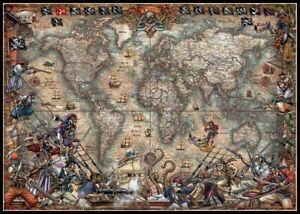 Antique-World-Map-Chart-Counted-Cross-Stitch-Patterns-Needlework-DIY