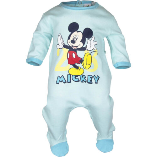 NEU Baby Jungen Micky Maus Baumwoll  Strampler  Gr 74 80 86 92   Englandmode