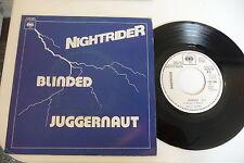 NIGHTRIDER 45T PROMO JUKE BOXES . BLINDED / JUGGERNAUT. CBS 7881 FRENCH PRESS.