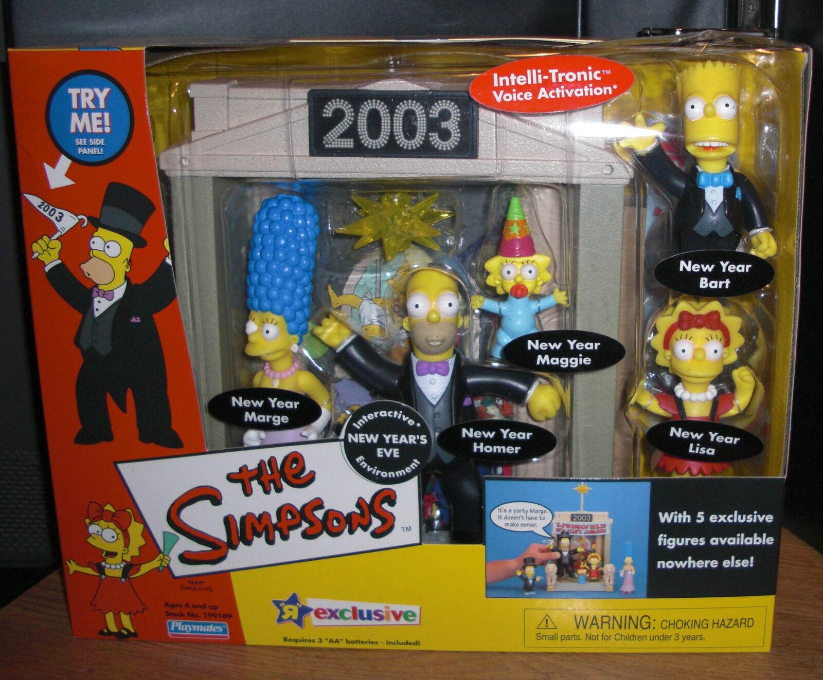 Simpsons interaktiva exklusiva nyårsafton 2003 leksaker R Us Hemr Bkonst NIB
