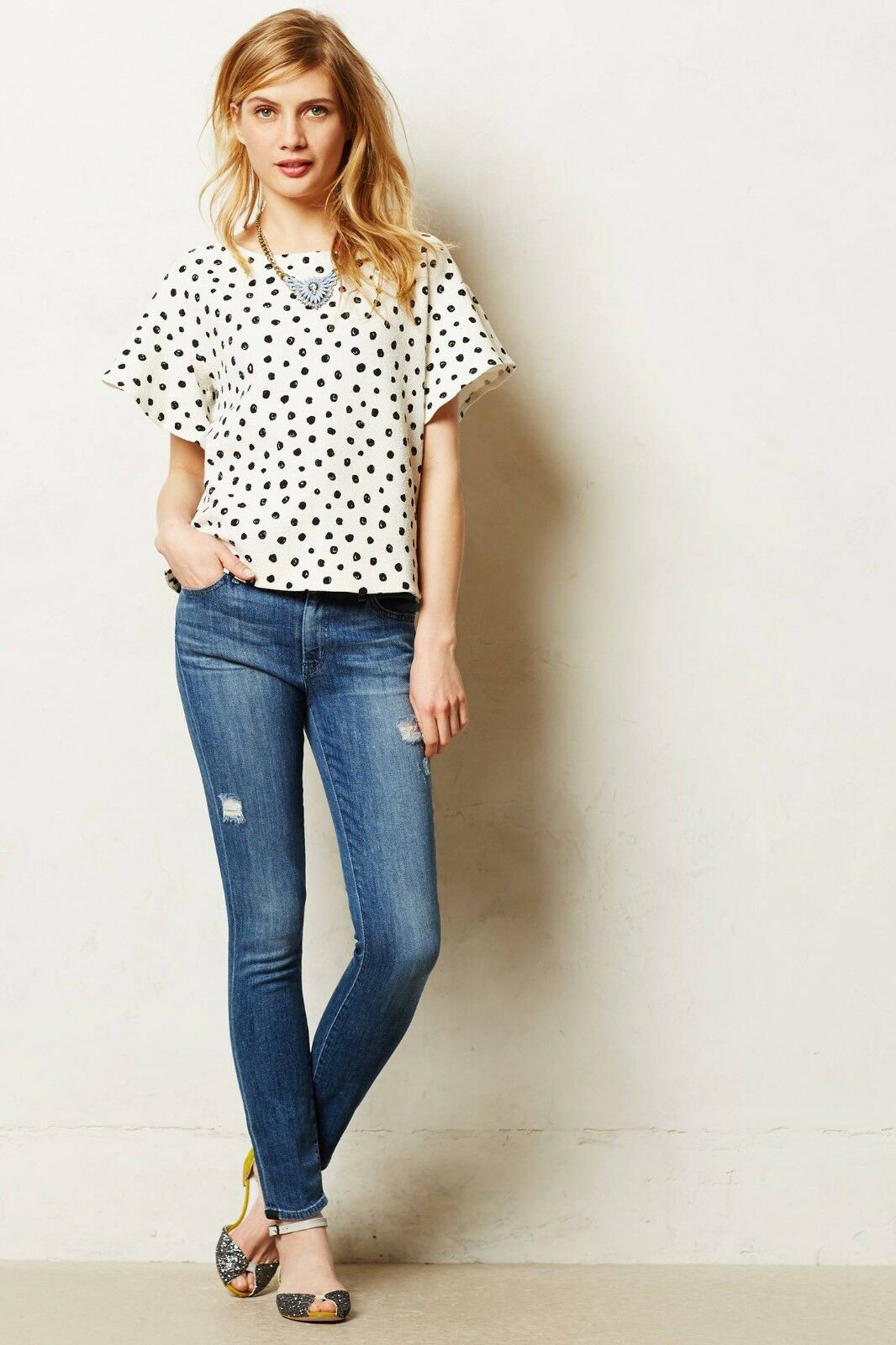 Anthropologie Status Koral Skinny Size.32  Org. 235.00 New With Tag